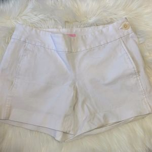 Lilly Pulitzer Side Button White Shorts Size 10